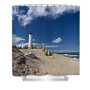 Crisp Point Lighthouse 18 Shower Curtain