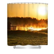 Crisp Spring Morning Shower Curtain