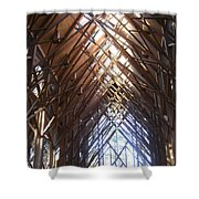 Criss Cross Chapel Shower Curtain