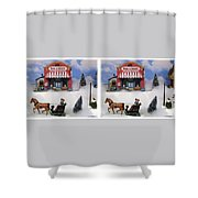 Christmas Decoration - Gently Cross Your Eyes And Focus On The Middle Image Shower Curtain