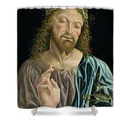 Cristo Salvator Mundi, C.1490-94 Shower Curtain