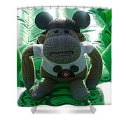 Croc Riding Monkey Shower Curtain