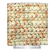 Crochet Rag Rug In Pastel Colours Shower Curtain