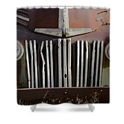 Crooked Grill Shower Curtain
