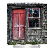 Crooked Red Door Shower Curtain