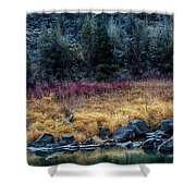 Crooked River At Smith Rock Shower Curtain