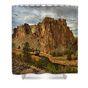Crooked River Bend Shower Curtain