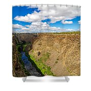 Crooked River Canyon And Bridge Shower Curtain