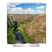 Crooked River Canyon Shower Curtain