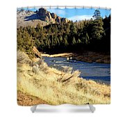Crooked River December Morning Shower Curtain