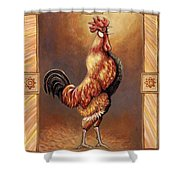 Crooner The Rooster Shower Curtain