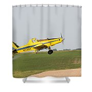 Crop Duster Shower Curtain