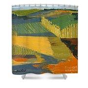 Crop Fields Shower Curtain by Erin Fickert-Rowland