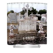 Cross And Angels Shower Curtain