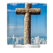 Cross And City Shower Curtain