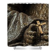 Cross And Feet Shower Curtain