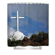 Cross At San Xavier - Tucson Shower Curtain