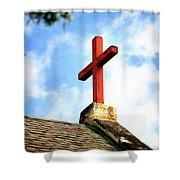 Cross Church Roof Shower Curtain