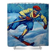 Cross Country Skier Shower Curtain