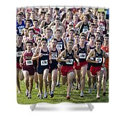 Cross County Race Shower Curtain