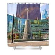 Cross Fountain #1 Shower Curtain