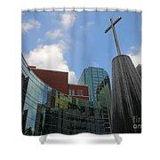Cross Fountain #2 Shower Curtain