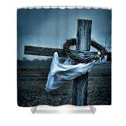 Cross In A Field Shower Curtain