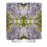 Cross In The Forest Shower Curtain