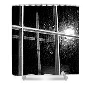 Cross In Window Shower Curtain