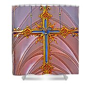 Cross Of Church Of Our Lady Shower Curtain