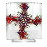 Cross Of Nature Shower Curtain