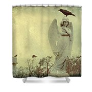 Cross Or Angel Shower Curtain