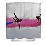 Cross Over Shower Curtain