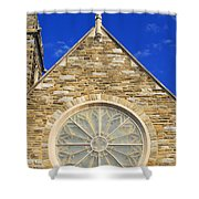 Cross Over Window Shower Curtain