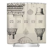 Cross Section And Architectural Details Of Kutciuk Aja Sophia The Church Of Sergius And Bacchus Shower Curtain
