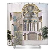 Cross Section Of The Pavilion Shower Curtain