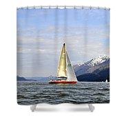 Cross Sound Sailboat Shower Curtain