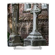 Cross Tombstone Shower Curtain