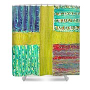 Cross -vegetable- Garden Shower Curtain