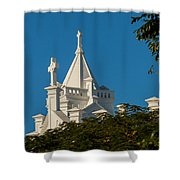 Crosses Above The Trees Shower Curtain