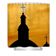Crosses On Steeples Shower Curtain