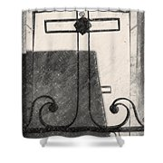 Crosses Voided Wrought Iron _ Nola Shower Curtain