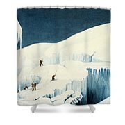 Crossing A Ravine, From A Narrative Shower Curtain