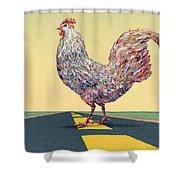 Crossing Chicken Shower Curtain