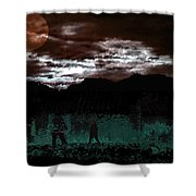 Crossing Moon Shower Curtain