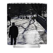 Crossing Over - Central Park - Nyc Shower Curtain