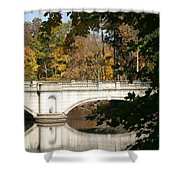Crossing Over Into Autumn Shower Curtain