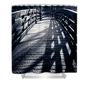 Crossing Over Shower Curtain