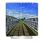 Crossing Over Bridge Shower Curtain
