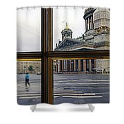 Crossing Over St. Basil Cathedral Shower Curtain